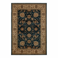 Rizzy Rugs Blue Traditional Power Loomed Area Rug Bellevue BV3714