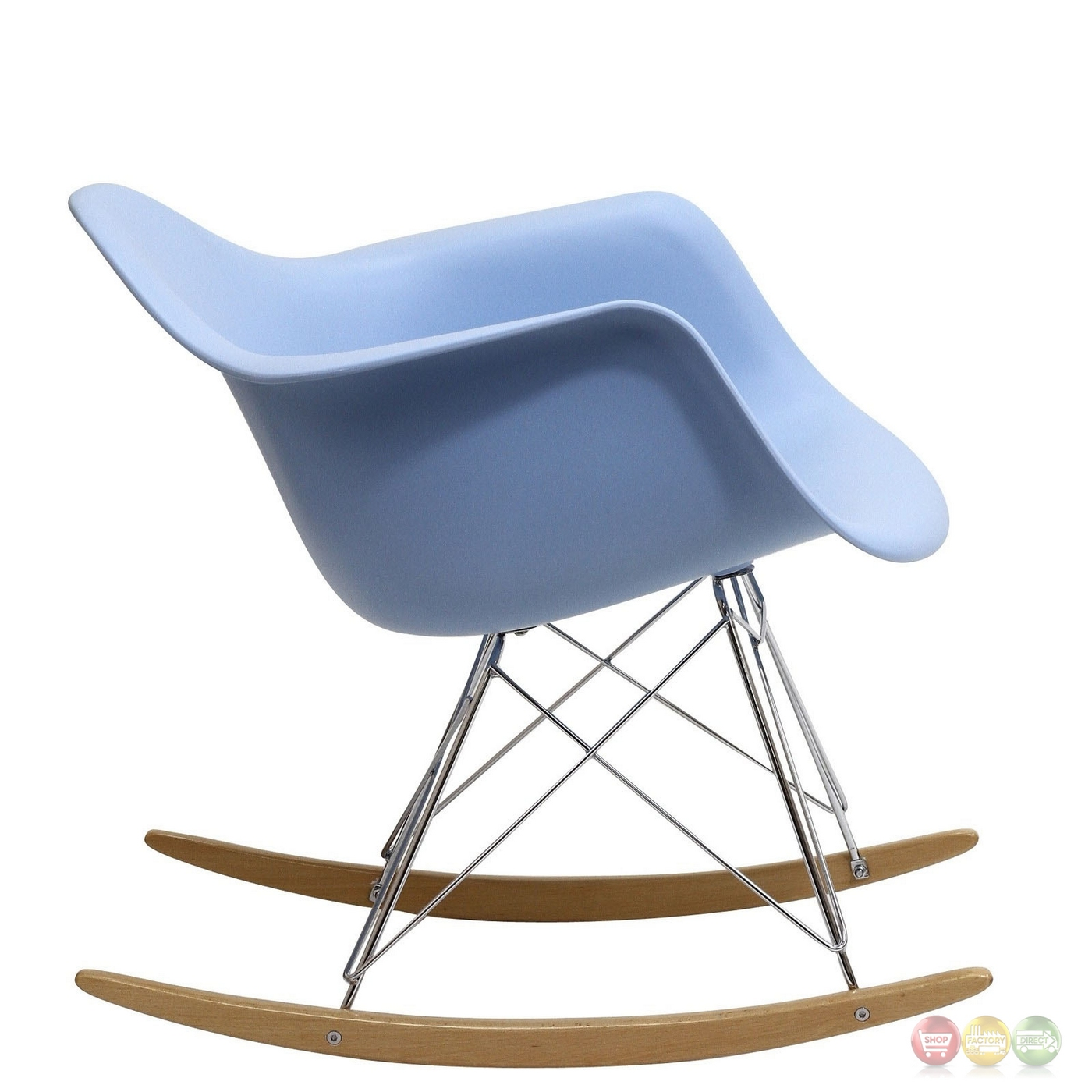 Rocker molded plastic rocking lounge chair with chrome for Pvc pipe lounge chair