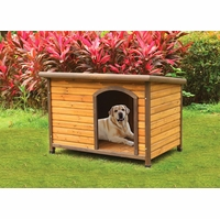 Rowdy Modern Rustic Wooden Dog House in Light Oak & Dark Brown Finish