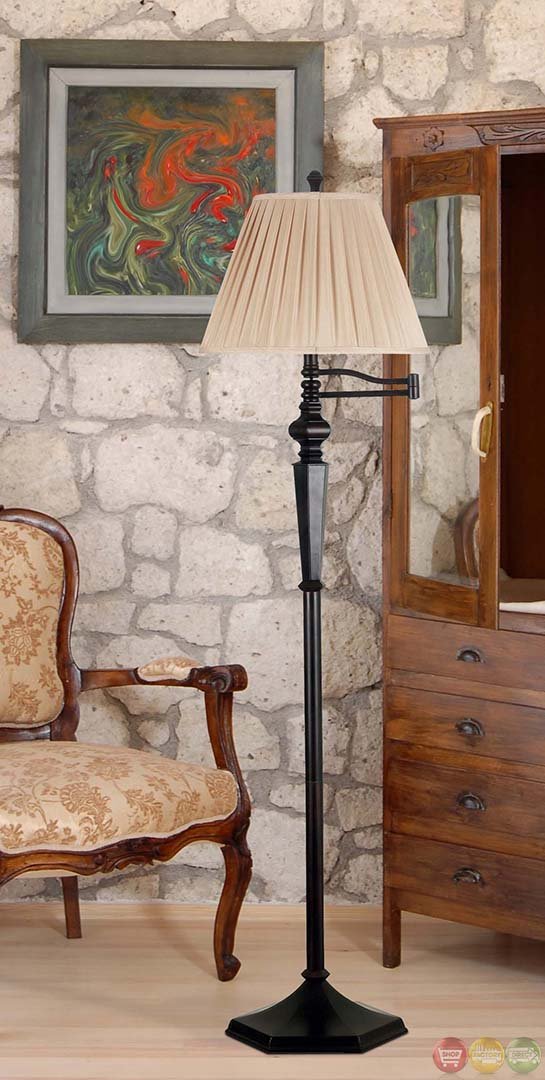 Rubbed Bronze Finish Chesapeake Swing Arm Floor Lamp