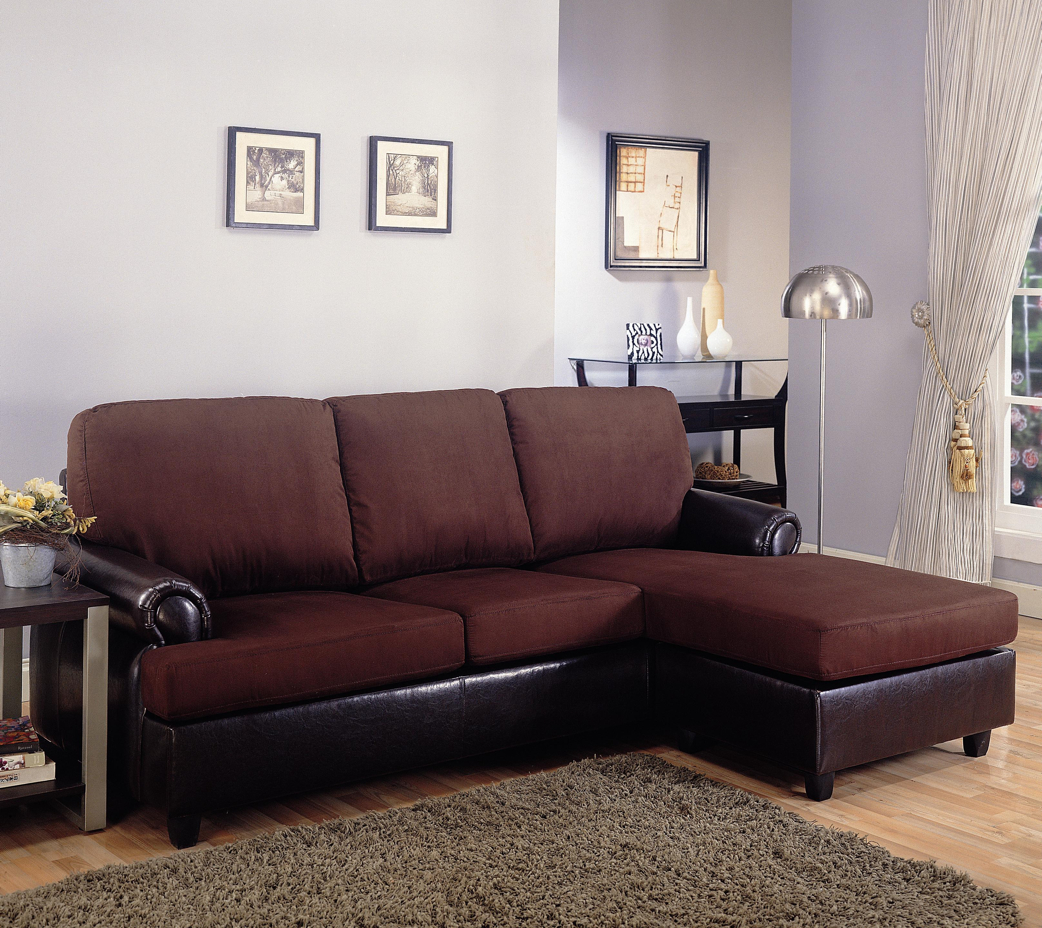 Rupard casual brown microfiber sectional sofa living room for Brown microfiber chaise lounge