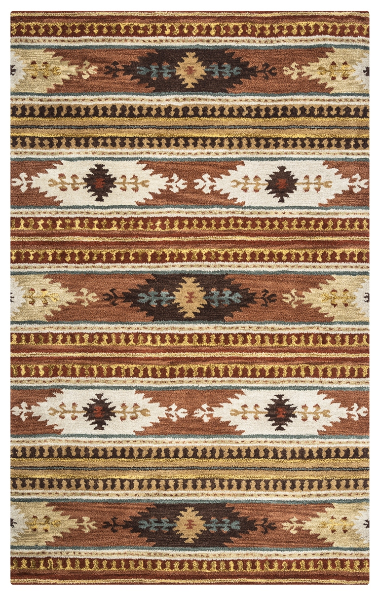 Rizzy Rugs Rust Southwest Hand Tufted Area Rug Southwest