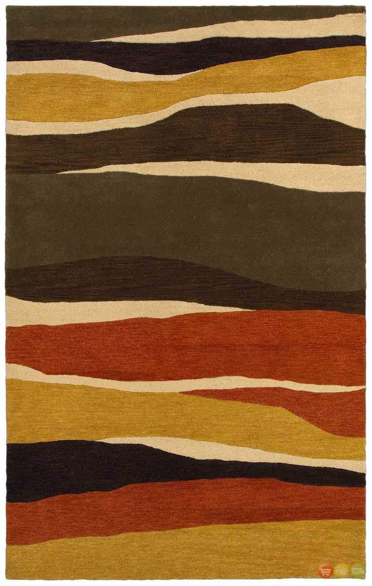 Rizzy Rugs Rust Transitional Hand Tufted Area Rug Pandora