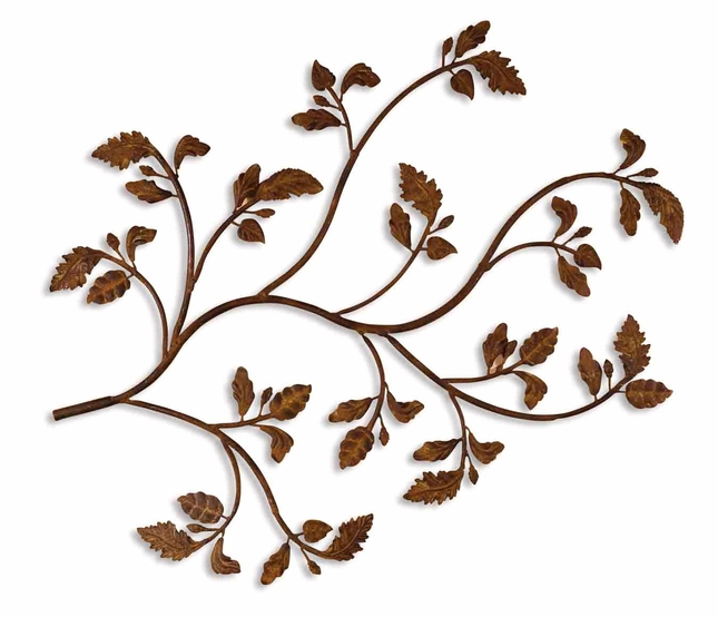 Rusty Branch Modern Distressed Brown Rust Alternative Wall Decor  13435