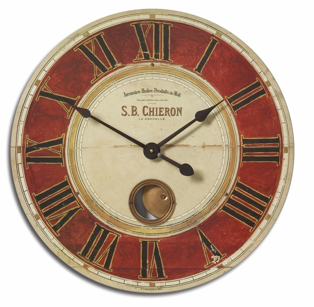 S B Chieron Traditional Matte Wall Clock 06042