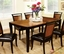 Salida I Acacia and Black Casual Dining Set with Padded Leatherette Seat