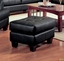 Samuel Black Bonded Leather Living Room Sofa and Loveseat Set