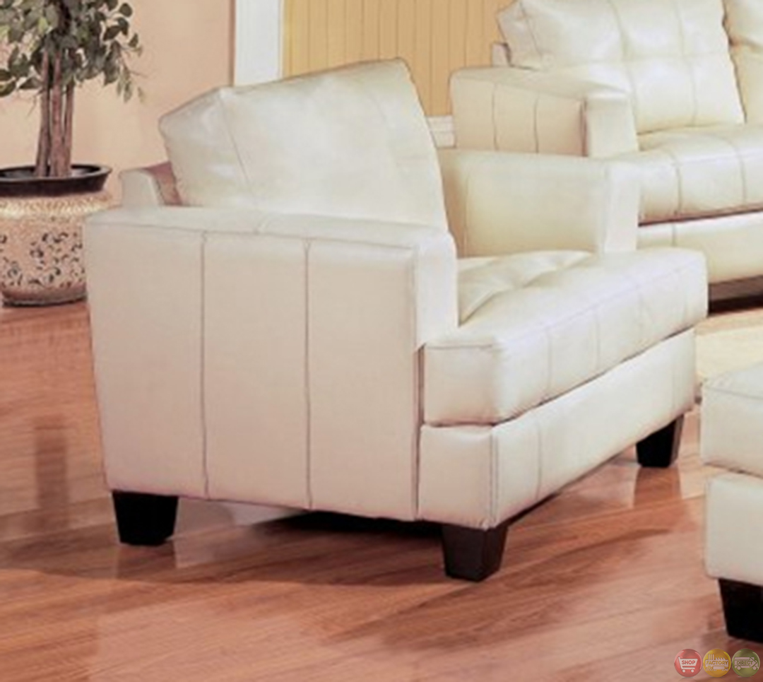 Leather couch and loveseat set bonded leather furniture for Cream couch living room