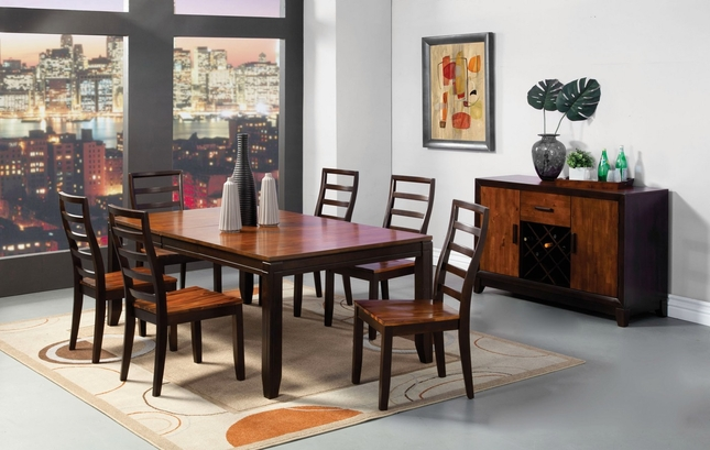 San Isabel I Acacia And Espresso Casual Dining Set With
