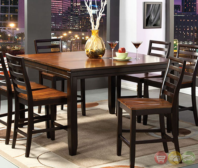 San Isabel Ii Acacia And Espresso Counter Height Dining