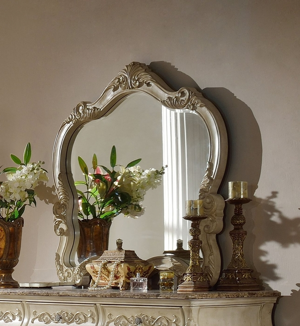 Sanctuary Ornate French Dresser Mirror In Antique White