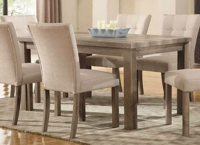 Sanders Reclaimed Grey 60 Dining Table With A Weathered Faux Wood Top
