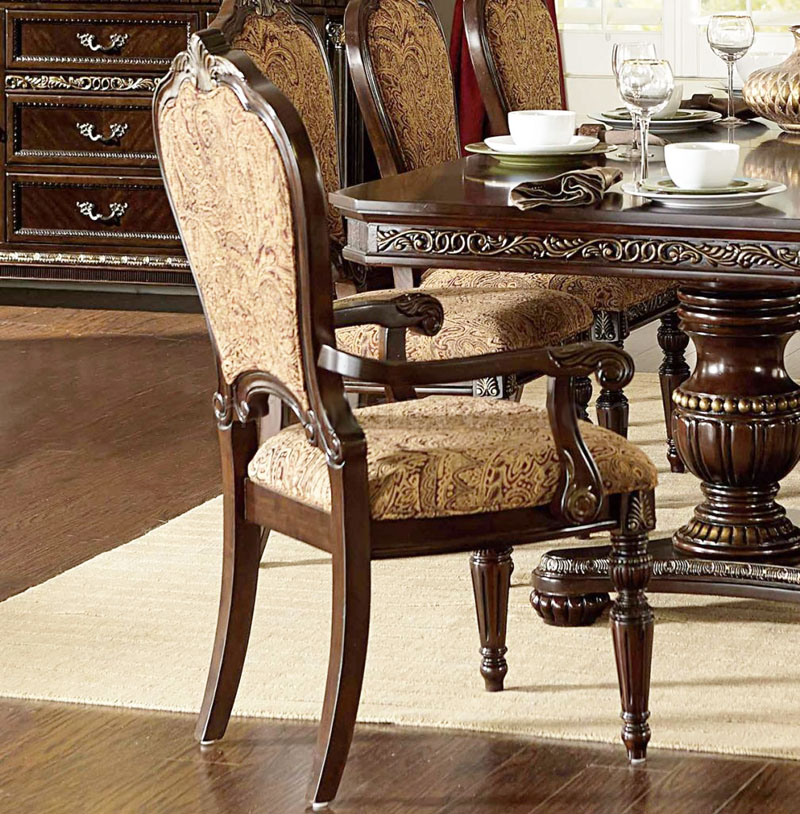 Cleopatra ornate traditional cherry formal dining room for Formal dining chairs