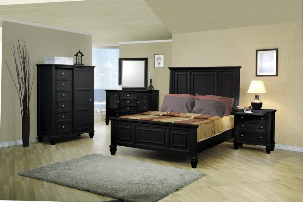 Sandy beach black bedroom furniture set coaster free - Black queen bedroom furniture set ...