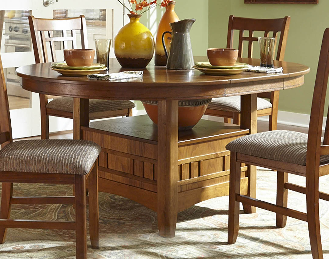 Mission Dining Table Set Santa Rosa Mission Style Casual Dining Table Set Mabrissa Oak