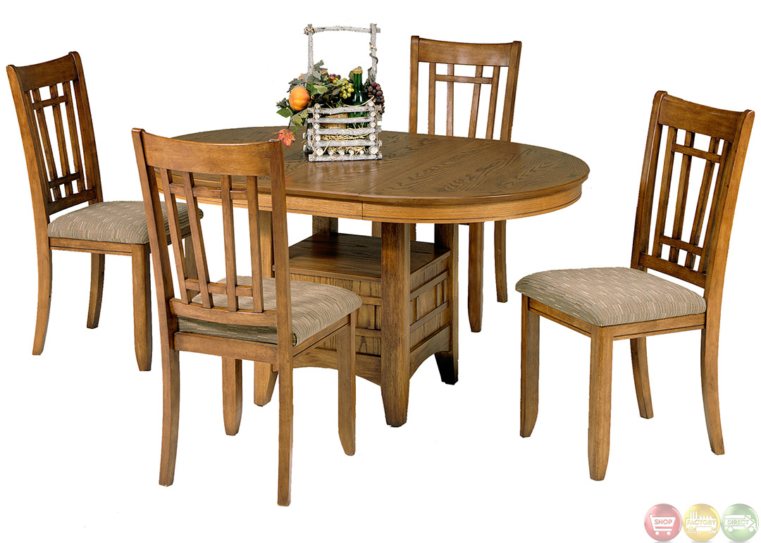 Santa rosa mission style casual dining table set - Mission style dining room furniture ...