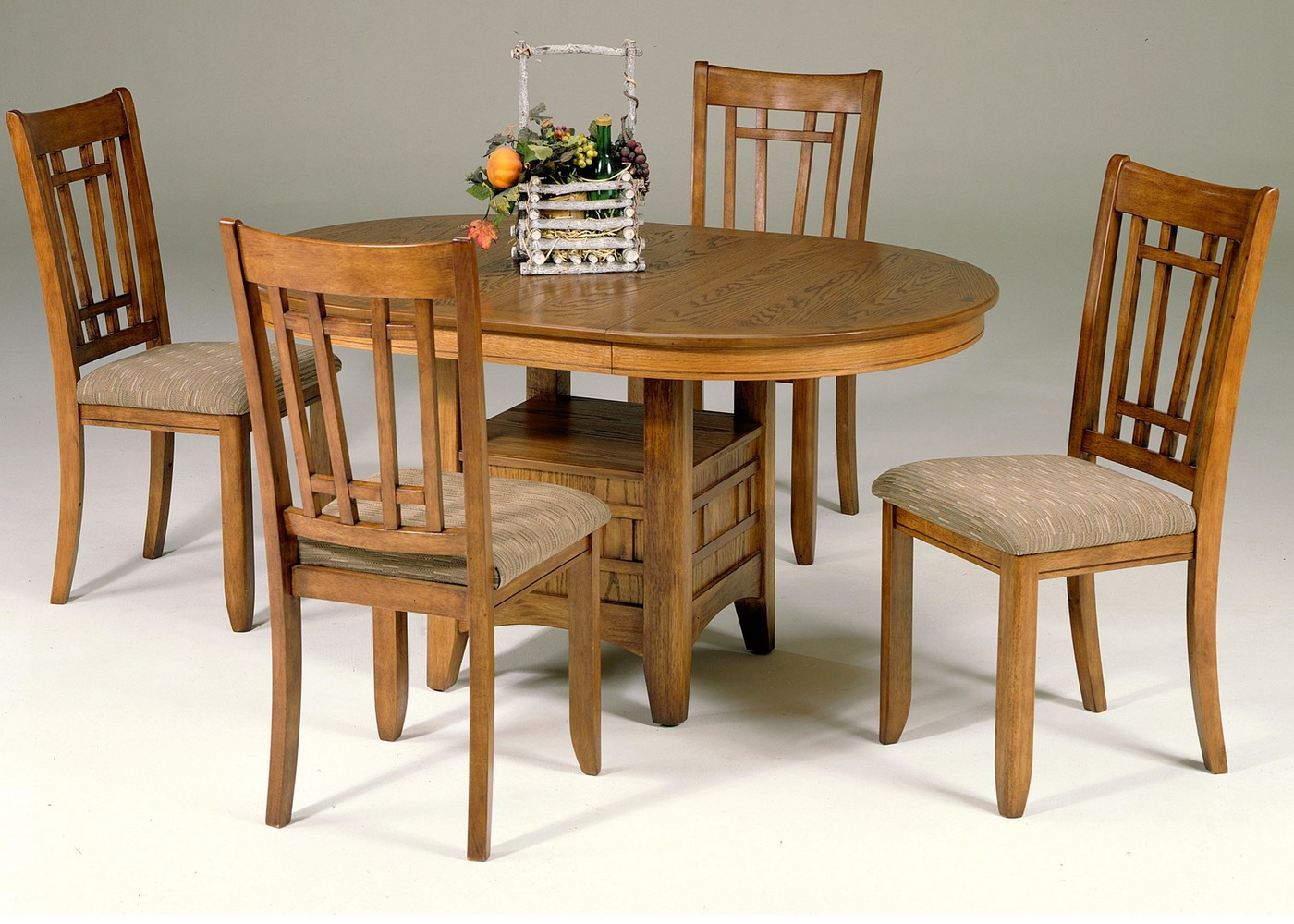 Santa rosa mission style casual dining table set for Mission style dining table