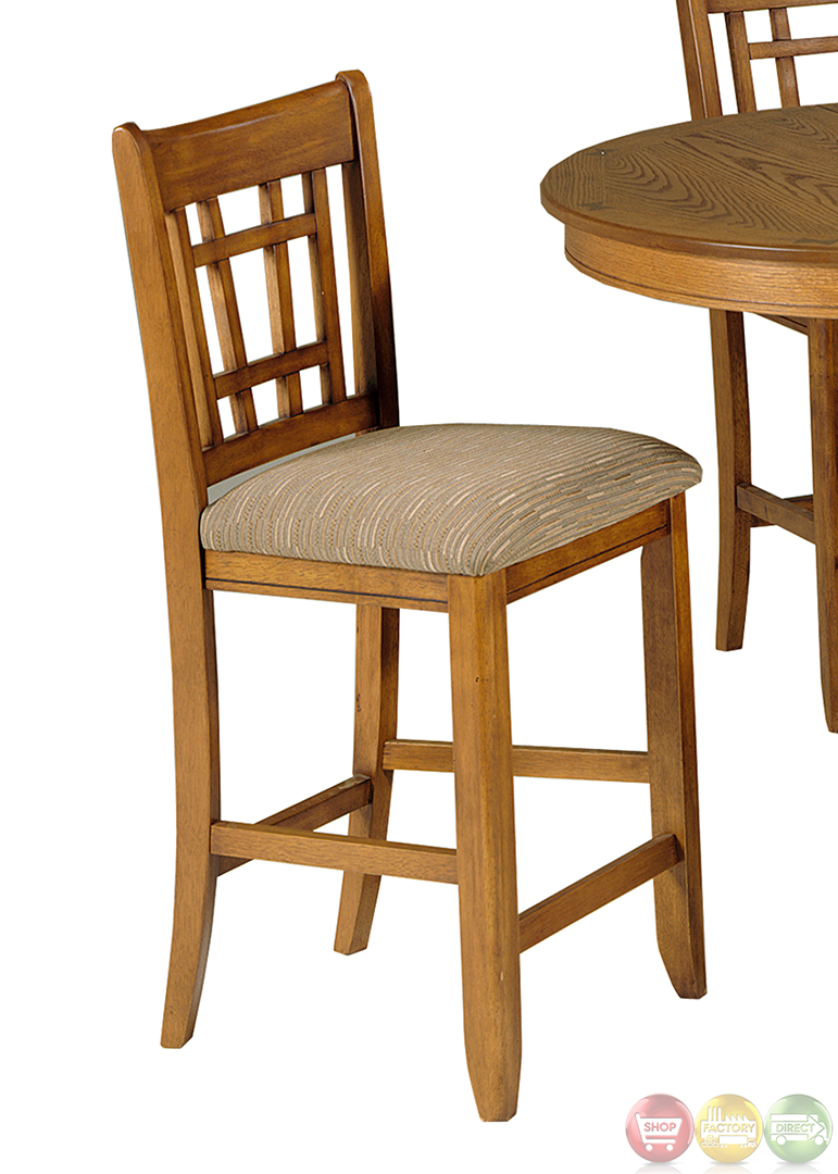 Santa rosa mission style counter height casual dining set for Casual dining table set
