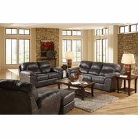 4453 Grant Steel Sofa And Loveseat In Bonded Leather With Nu Buck Feel
