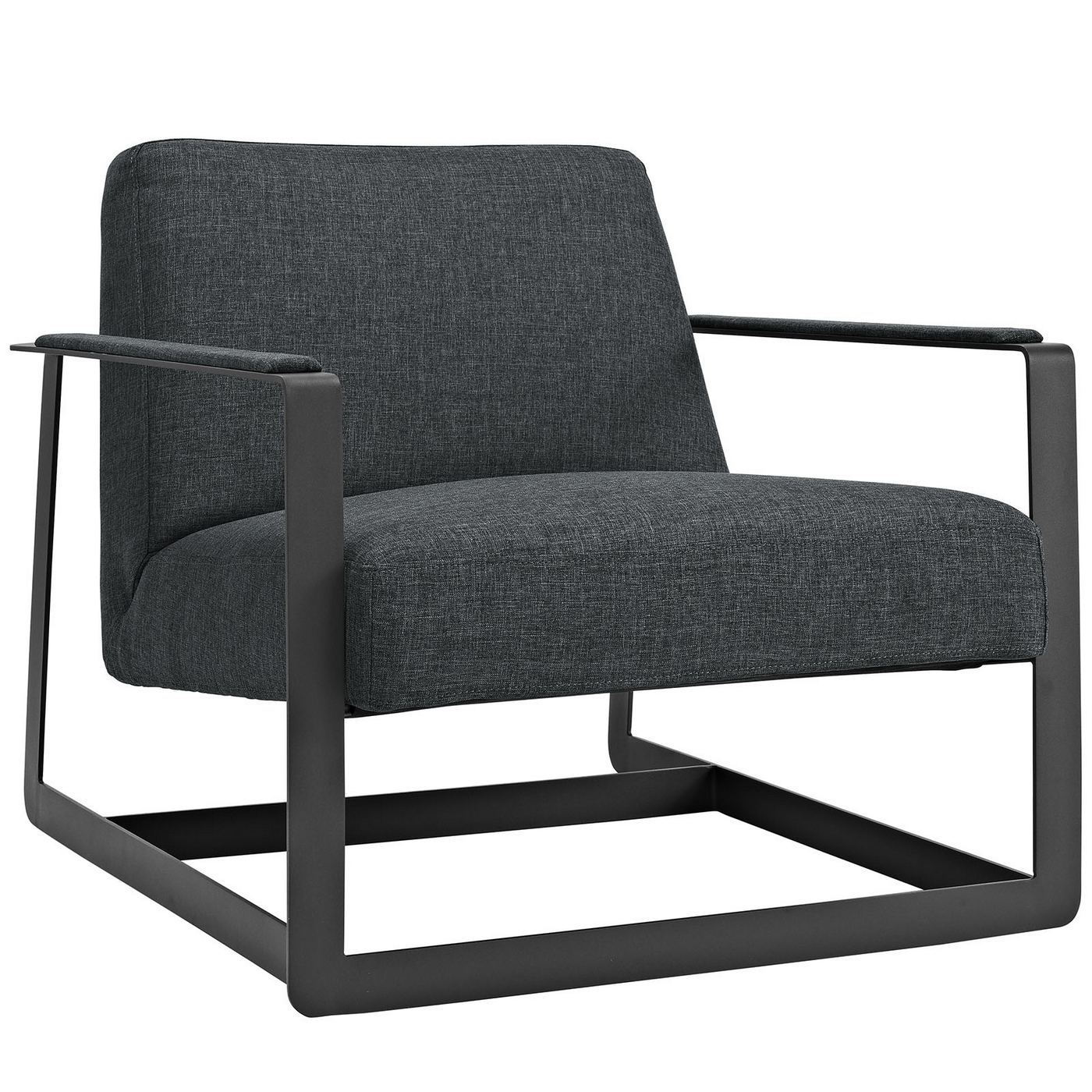 seg contemporary fabric upholstered accent chair with. Black Bedroom Furniture Sets. Home Design Ideas