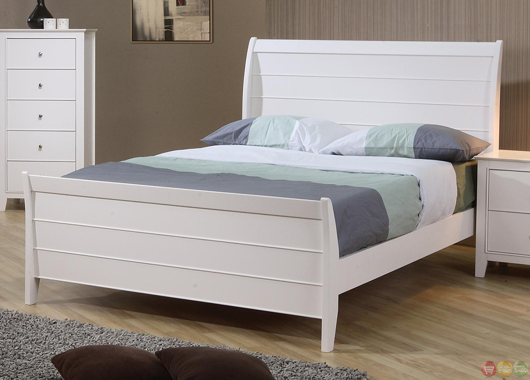 Powell White Twin Bedroom In A Box: Selena White Twin Sleigh Bed Youth Bedroom Set
