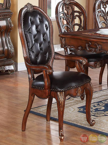 Selene Traditional Dark Wood Formal Dining Set With Buffet