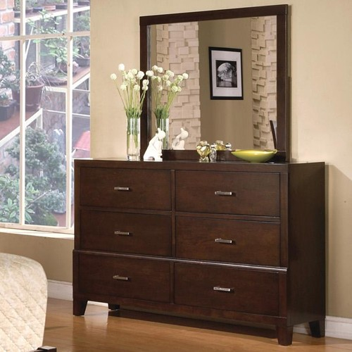 Serena Contemporary Bedroom Collection Cappuccino Finish Free Shipping