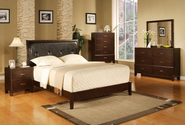 Serena Contemporary Bedroom Furniture Collection Upholstered Headboard