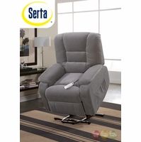 Serta Comfortlift Bristol Grey Wall Saver Reclining Lift Chair Backup Battery