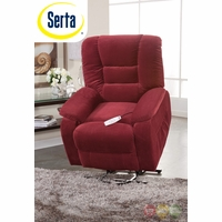 Serta Comfortlift Bristol Red Wall Hugger Reclining Lift Chair With USB Outlet