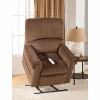 Serta Comfortlift Brookfield Chocolate Reclining Lift Chair With USB Outlet