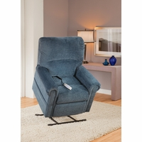 Serta Comfortlift Brookfield Ocean Blue Reclining Lift Chair With USB Outlet