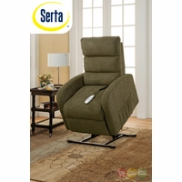 Serta Comfortlift Newton Green Reclining Lift Chair With Backup Battery
