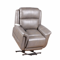 Serta Comfortlift Norwhich Grey Wall Hugger Reclining Lift Chair With USB Outlet