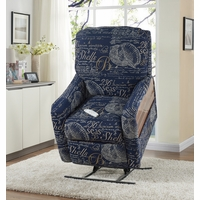 Serta Comfortlift Oceanside Nautical Blue Reclining Lift Chair