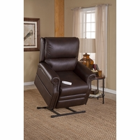 Serta Comfortlift Sheffield Cocoa Brown Reclining Lift Chair With USB Outlet