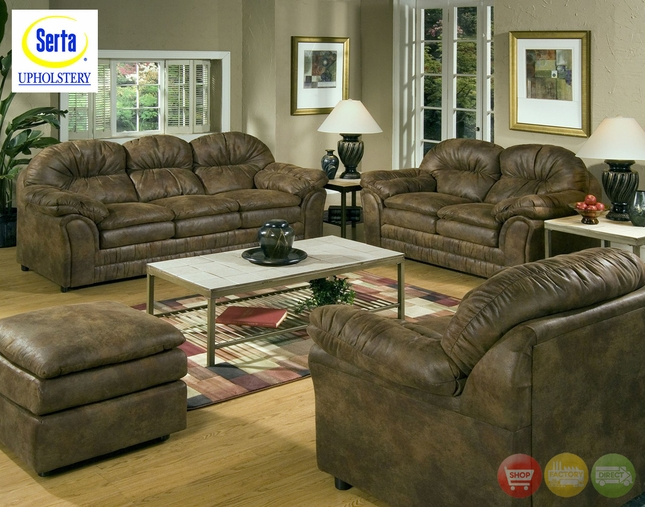 Matador Microfiber Sofa & Love Seat Casual Living Room 5750
