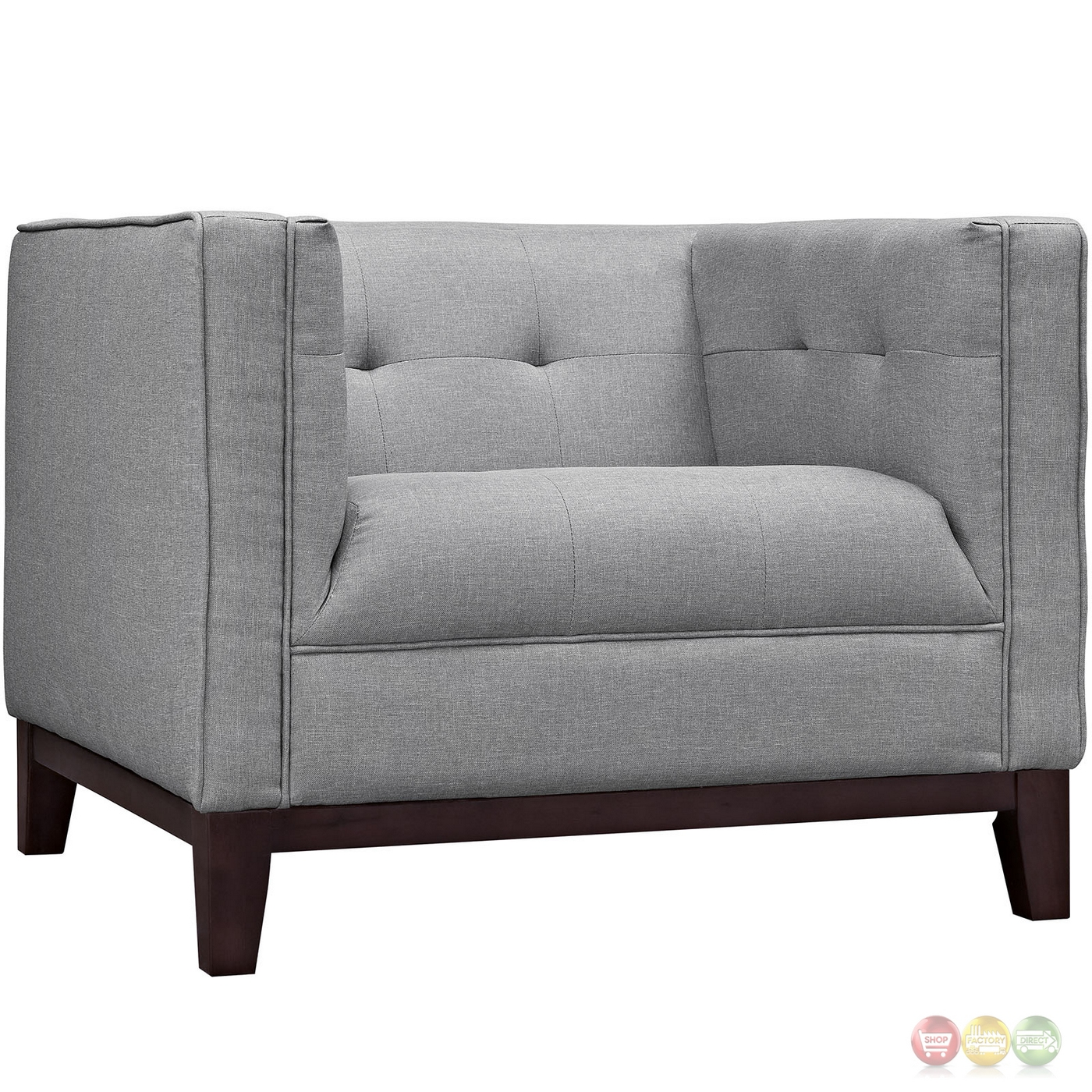 Mid century modern serve 3 pc sofa armchairs living room for Modern armchairs for living room