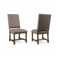 Set of 2, Echo Park Grey Upholstered Birch Side Chair with Stipple Stain Finish