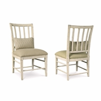 Set of 2, Echo Park Slat Back Birch Side Chair with Antique White Finish