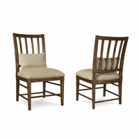 Set of 2, Echo Park Slat Back Birch Side Chair with Stipple Stained Finish