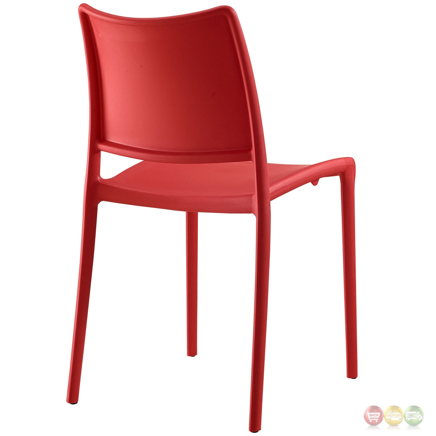 set of 2 hipster casual stackable plastic molded dining side chair red. Black Bedroom Furniture Sets. Home Design Ideas