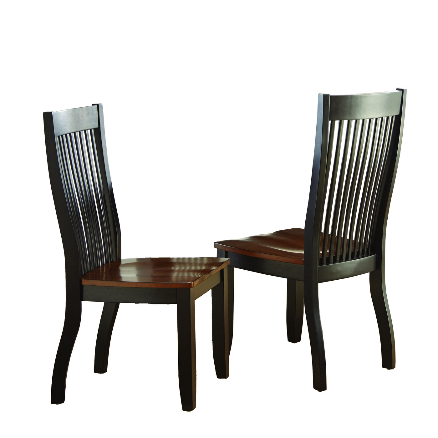 Modern Wooden Dining Chairs ~ Set of lawton modern solid wood mision style slat back