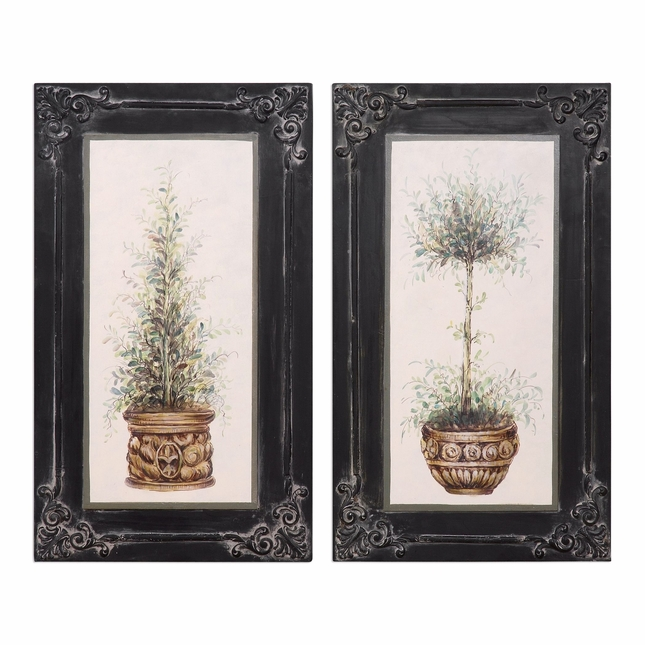 Set of 2 lightweight vintage style wall art of hand - Vintage inspired wall art ...