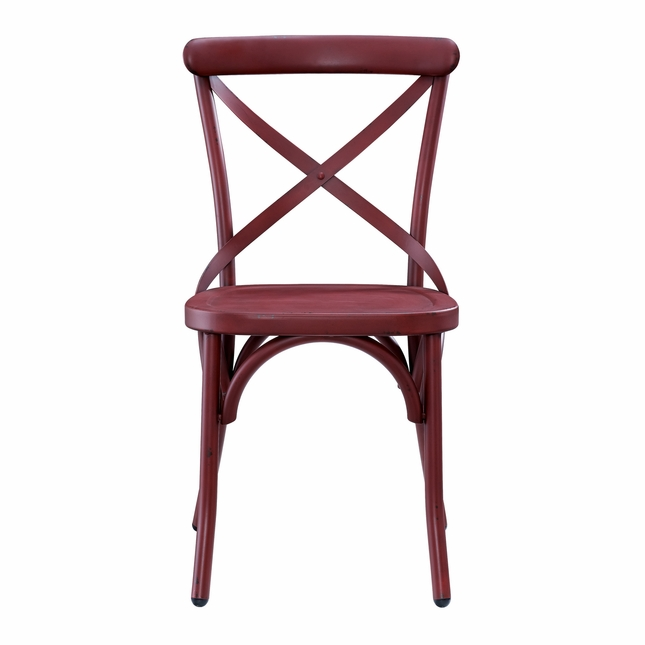 sc 1 st  Shop Factory Direct & Radford Industrial X-Back Metal Dining Chair in Antique Brick Finish