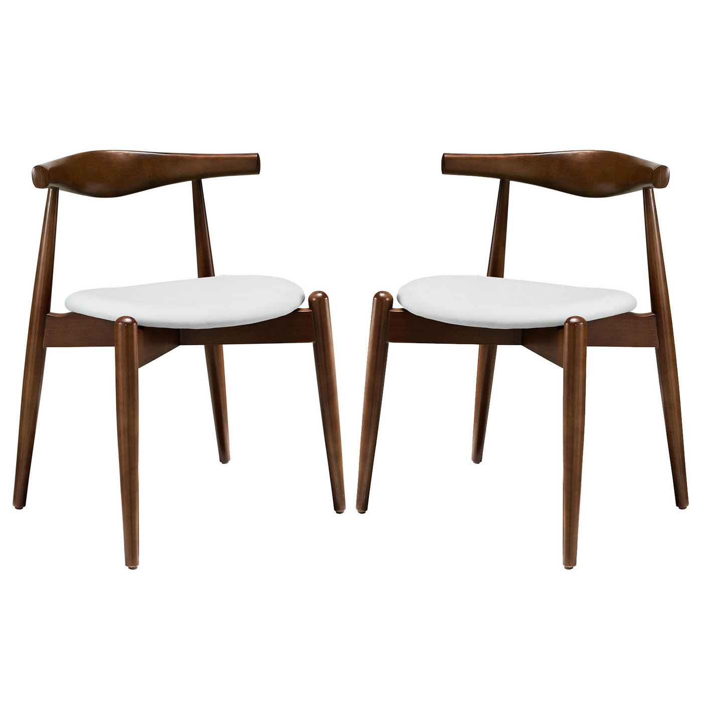 Set Of 2, Stalwart Contemporary Wood Dining Side Chairs W