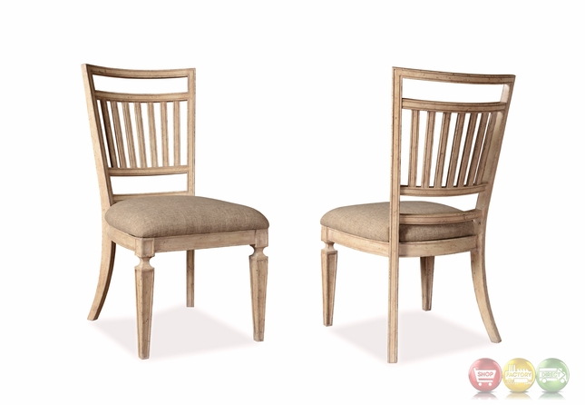 Set Of 2 The Foundry French Slat Back Side Chair In Antique Cream