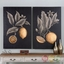 "Set Of 2, Traditional Citrus Study Hand Painted Still Life Canvas Art, 32""x48"""