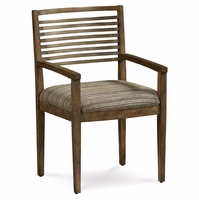 Set of 2, Williamsburg Stylized Slat Back Arm Chair With Reclaimed Finish