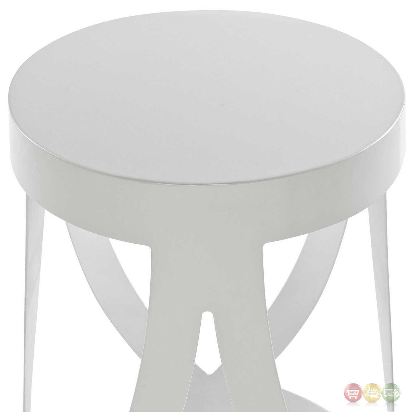 Set Of 4 Ribbon Contemporary Bar Stool In Coated Steel  : set of 4 ribbon contemporary bar stool in coated steel finish white 7 from shopfactorydirect.com size 1400 x 1400 jpeg 340kB